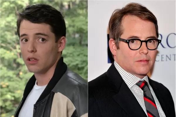 Aos 24 anos, Matthew Broderick estourou como Ferris Bueller em 'Curtindo a Vida Adoidado'. Hoje, além de um ator de sucesso, Broderick é casado com Sarah Jessica Parker (Foto: Getty Images e Divulgação)