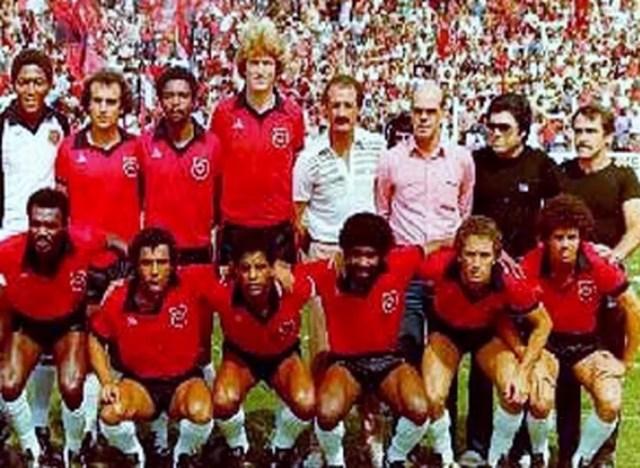 Felipão como técnico do Brasil de Pelotas nos anos 80 — Foto: Reprodução