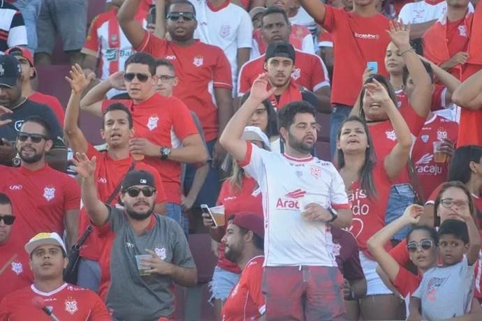 Torcida do Sergipe (Foto: Felipe Martins / Asscom Sergipe)