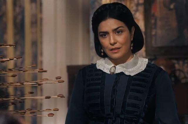 Leticia Sabatella is Teresa Cristina in 'In the Emperor's Times' (Photo: TV Globo)