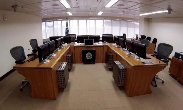 Sala onde será o julgamento da apelação da defesa do ex-presidente Lula (Foto: Sylvio Sirangelo/TRF4/Divulgação)