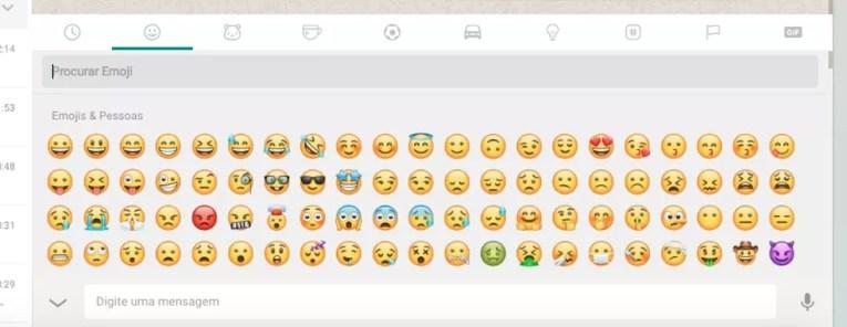 Novos emojis no WhatsApp Web (Foto: Melissa Cruz Cossetti / TechTudo)