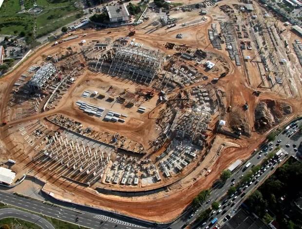 Foto aérea da Arena das Dunas, em Natal, em 27 de agosto (Foto: Canindé Soares/Divulgação)