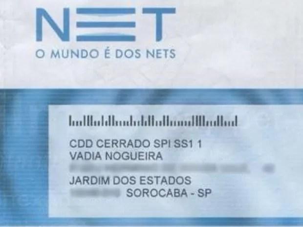 Cliente teve nome alterado para palavrão (Foto: Kátia Nogueira/Arquivo Pessoal)