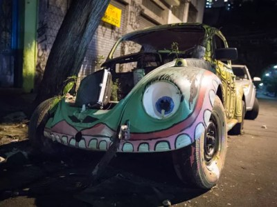 carro arte (Foto: Ardilhes Moreira/G1)