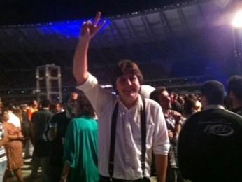 Ralf Joenjes veio do Rio de Janeiro para ver o show (Foto: Pedro Triginelli / G1)