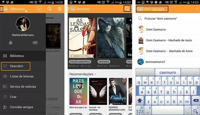 Pesquise e descubra novos livros com app para Android (Foto: Reprodução/Barbara Mannara)
