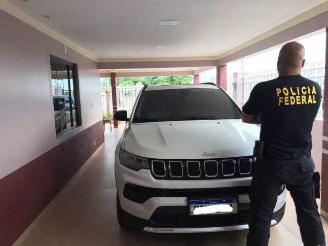 Carro de luxo foi apreendido pela PF em ação em Rondônia — Foto: PF/Divulgação