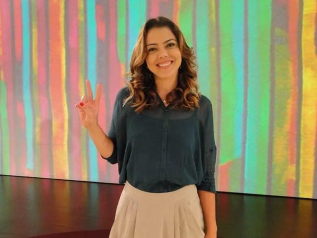 Leila do Vôlei em foto de dezembro de 2012 — Foto: Encontro com Fátima Bernardes/TV Globo
