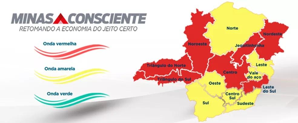 Atualização do 'Minas Consciente' desta terça-feira (16) — Foto: Governo de MG/Divulgação