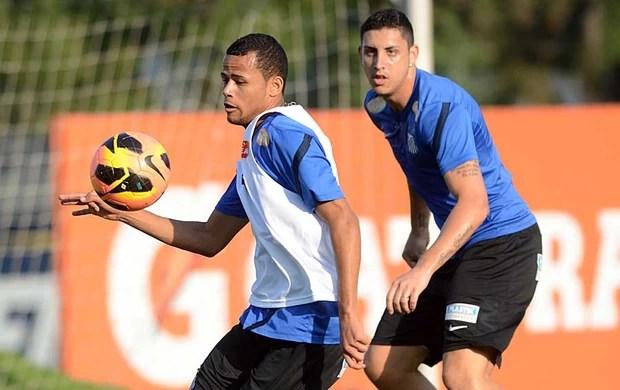 Geuvânio e Rafael Caldeira - Santos (Foto: Ivan Storti/Divulgação Santos FC)
