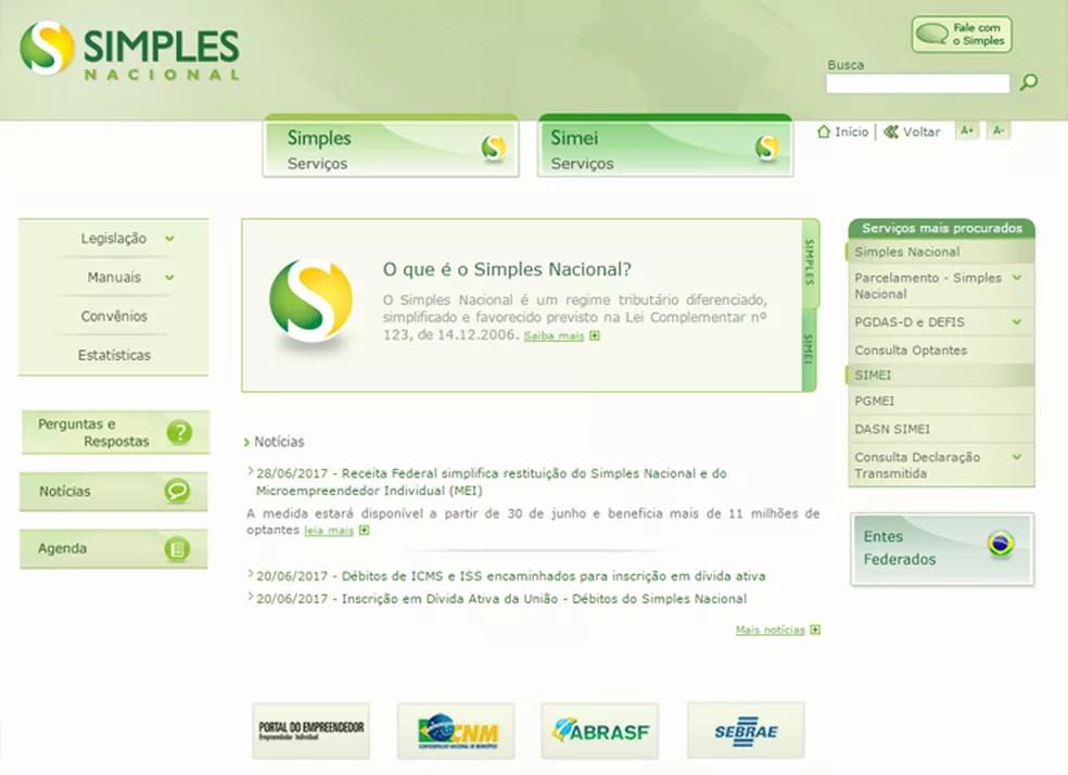 Pedido de parcelamento poderá ser feito na página do Simples Nacional ou no site da Receita (Foto: Reprodução)