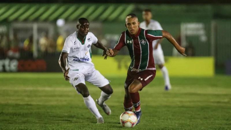 Lucas Barcelos, atacante do Fluminense — Foto: Lucas Merçon
