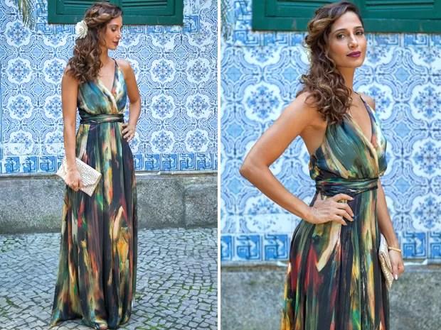 Como uma deusa! Regina está deslumbrante com o look escolhido (Foto: Fabiano Battaglin / Gshow)