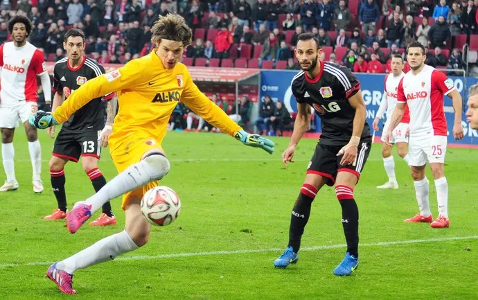 Augsburg x Leverkusen - Marwin Hitz (Foto: EFE)