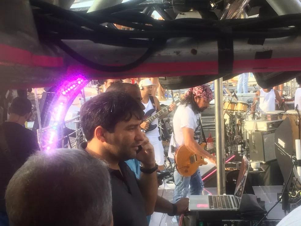 Cantor Bell Marques já está no circuito para fazer o seu primeiro show durante o carnaval de Salvador (Foto: Juliana Almirante/G1 Bahia)