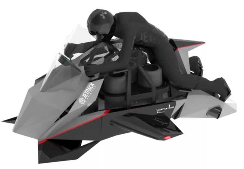 Jetpacker Speede é uma mistura de moto e drone — Foto: Jetpack/Divulgação