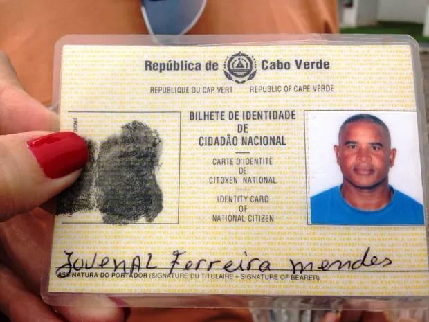 Homem que ficou à deriva é de Cabo Verde (Foto: Mariane Rossi/G1)