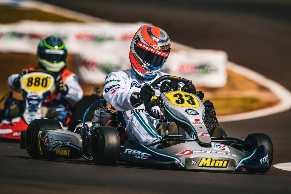 Rodrigo Piquet durante a disputa do Brasileiro de Kart de 2019, em Cascavel (PR) — Foto: Bruno Gorski