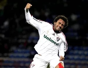 Wellington Nem comemora gol do Fluminense contra o Huachipato (Foto: Nelson Perez / Fluminense. F.C.)