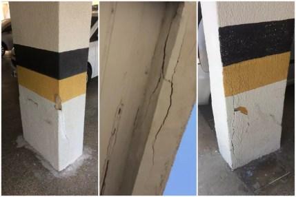 Empresa vistoriou edifício Andrea um mês antes do desabamento e encontrou pontos críticos na estrutura — Foto: Reprodução