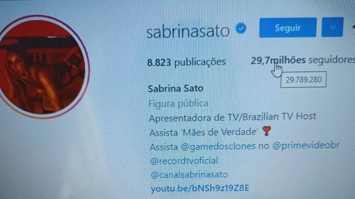 Juliette ultrapassa Sabrina Sato em número de seguidores (Foto: Reprodução/Instagram)
