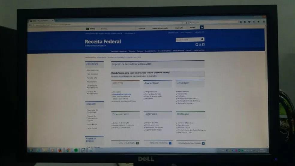 Programa para declarar IR poder ser baixado na internet (Foto: Jéssica Alves/G1)