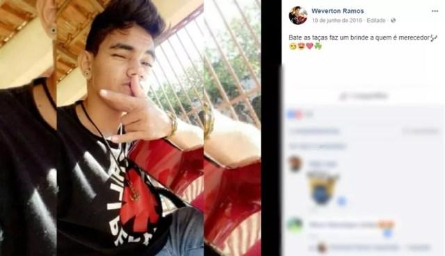 Weverton Ramos Carneiro, de 18 anos, morreu afogado (Foto: Facebook/ Reprodução)