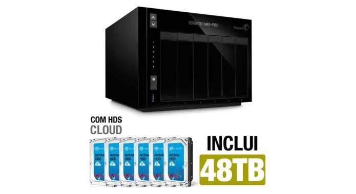 HD externo Seagate NAS 6-BAY Pro (Foto: Divulgação)