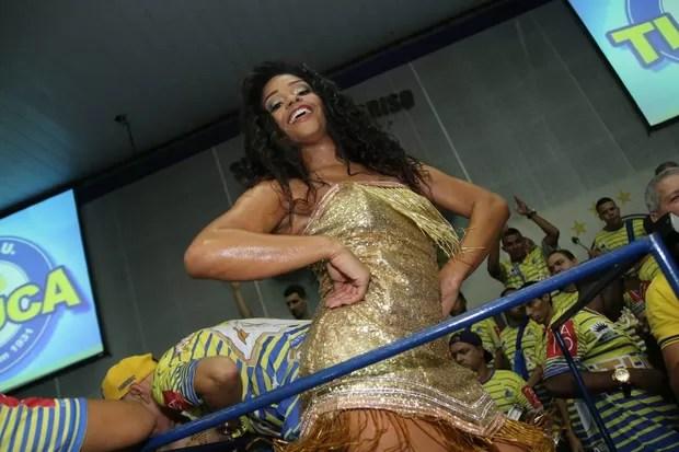 Juliana Alves na Unidos da Tijuca (Foto: Daniel Pinheiro/AgNews)