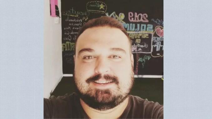 O fisioterapeuta Wesley Soares, de 34 anos, morreu com Covid-19 em Franca, SP — Foto: Reprodução/EPTV