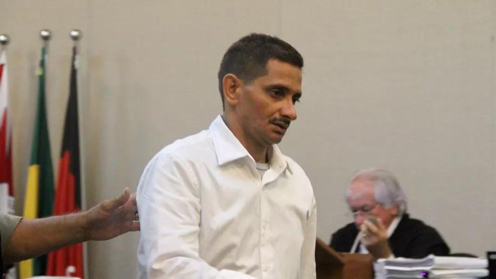 Edvaldo Soares, de 50 anos, no júri popular desta quinta-feira (28), em João Pessoa — Foto: Dani Fechine/G1