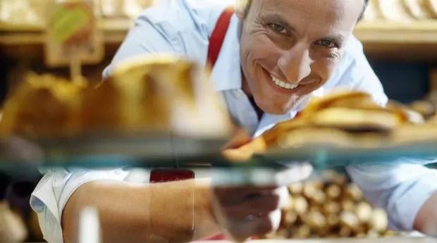 empreendedor, feliz, padaria, pães, empresário (Foto: Thinkstock)