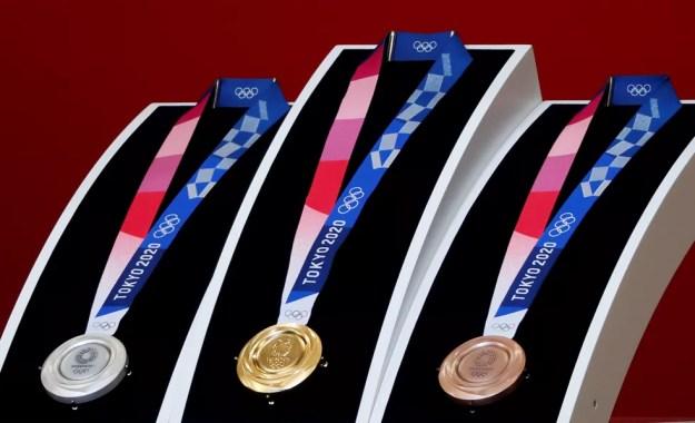 Medalhas dos Jogos Tóquio 2020 — Foto: Reuters