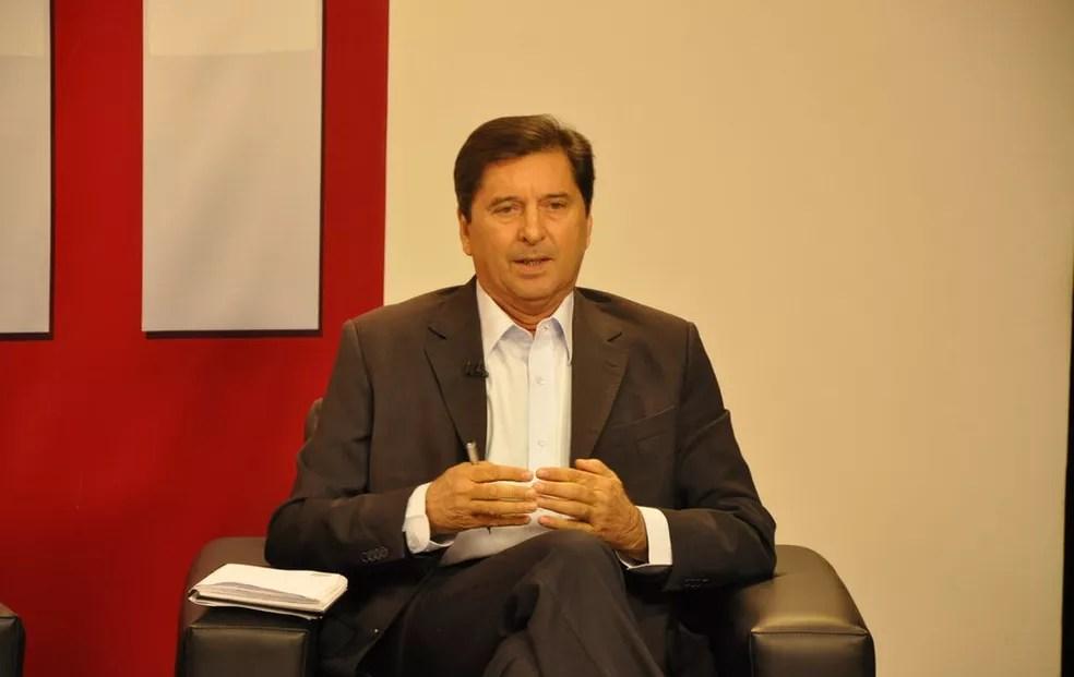 Maguito Vilela foi escolhido pelo MDB para disputar a Prefeitura de Goiânia — Foto: Adriano Zago/G1