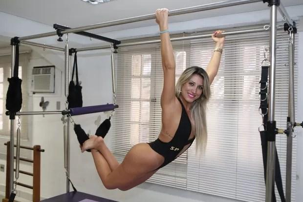 Musas do Brasil em aula de Pilates (Foto: Luis Carlos Naga / Divulgação)