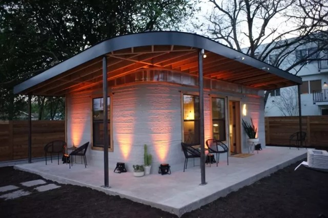 Projeto usa impressora 3D para construir casas em países de baixa renda (Foto: Divulgação / ICON)