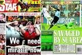 capa jornais derrota Inglaterra