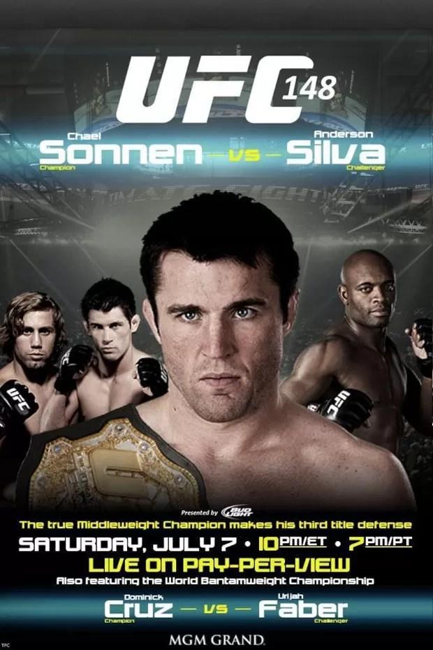 Cartaz UFC 148 - Chael Sonnen Anderson Silva (Foto: Reprodução / Twitter)