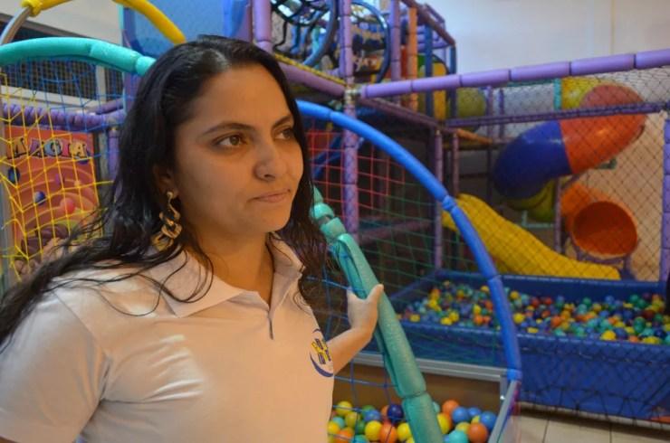 Marjorie Evangelista, gerente de bufê em Ribeirão Preto contratado para festa de aniversário sem bebê  (Foto: Rodolfo Tiengo/G1)