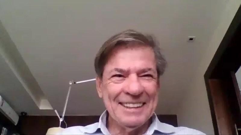 Jorge Salgado conversou com o ge por chamada de vídeo — Foto: Reprodução