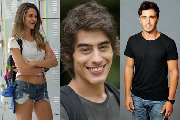 Em Além do Horizonte, noovela das 7 que estreia em novembro, na Globo, Lili (Juliana Paiva), Rafa (Vinicius Tardio) e William (Thiago Rodrigues) estão dispostos a explorar um novo mundo (Foto: Globo)