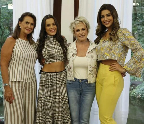 Finalistas do BBB17 posam com Ana Maria Braga (Foto: Felipe Monteiro/Gshow)