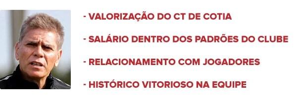 Razões pelas quais a diretoria do São Paulo decidiu por Paulo Autuori (Foto: arte esporte)