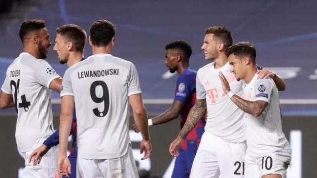 Philippe Coutinho gol, Barcelona 2 x 8 Bayern, Liga dos Campeões