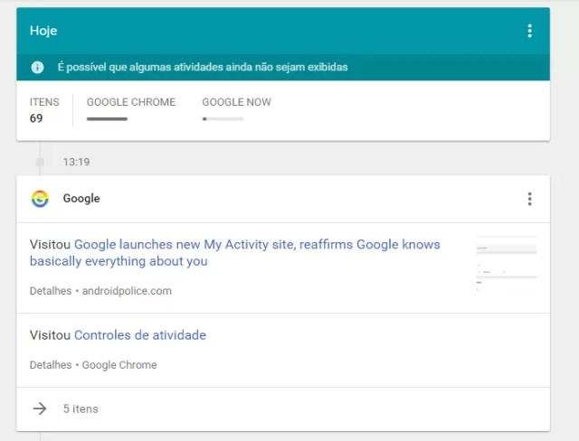 Google lança site Minhas Atividades e mostra que sabe muito sobre você