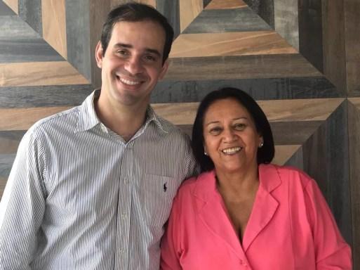 Carlos Eduardo Xavier e Fátima Bezerra — Foto: Divulgação