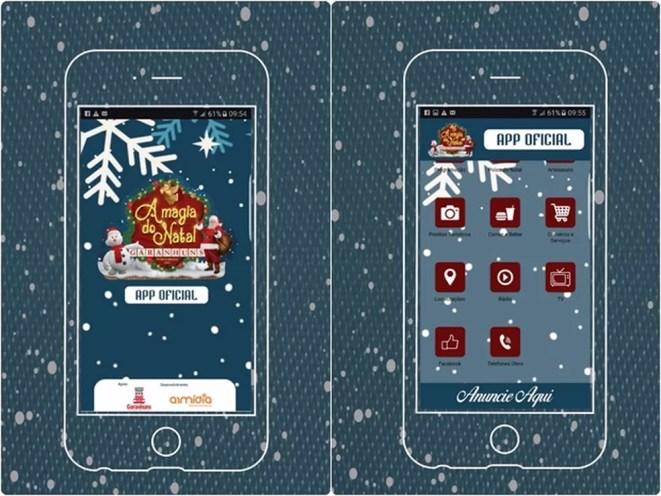 Aplicativo 'A Magia do Natal de Garanhuns' (Foto: ArMidia Desenvolvimentos/Reprodução)