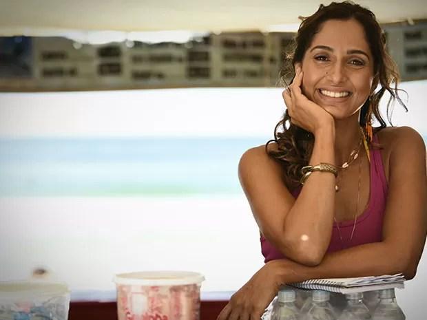 Camila Pitanga sempre linda e simpática (Foto: Raphael Dias/Gshow)