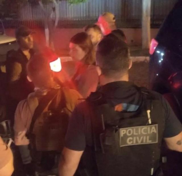 Tamires foi resgatada em Cantagalo, na região central do Paraná, depois de seis dias desaparecida  — Foto: Divulgação/Polícia Civil